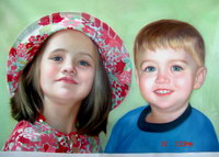 sample oil painting, child portrait, baby portrait, sample portrait painting from photo - 39