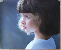 sample oil painting, child portrait, baby portrait, sample portrait painting from photo - 38