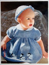 sample oil painting, child portrait, sample portrait painting from photo - 25