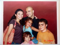 sample oil painting, Family portrait, sample portrait painting from photo - 46