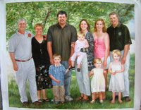 sample oil painting, Family portrait, sample portrait painting from photo - 53