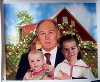 sample oil painting, Family portrait, sample portrait painting from photo - 49