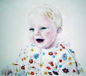 sample portrait painting - baby Watercolor