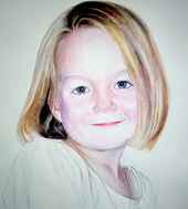 sample portrait painting - child Watercolor