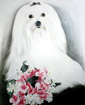 sample portrait painting - dog Watercolor